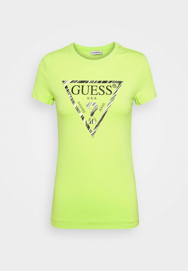 T-shirt imprimé - yellow glow