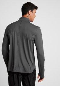 ASICS - ZIP - Long sleeved top - dark grey - 2