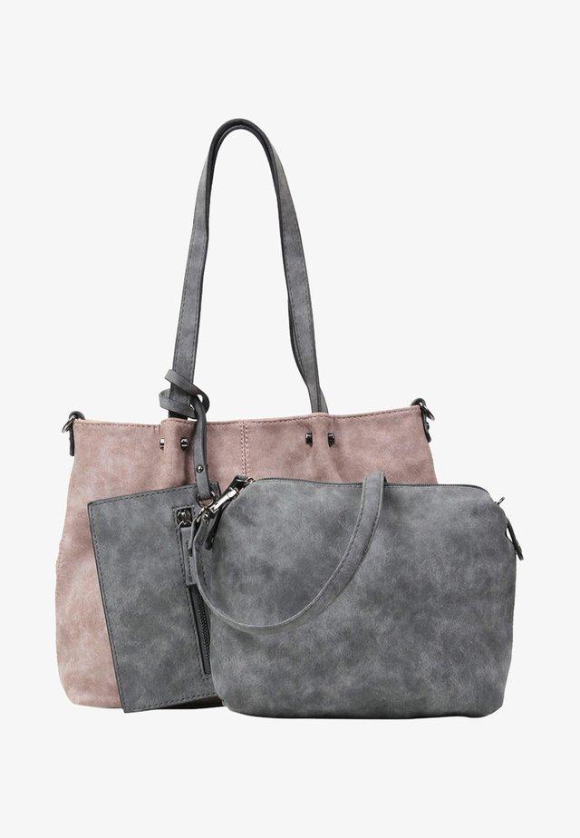 Shopping bag - rose/light grey