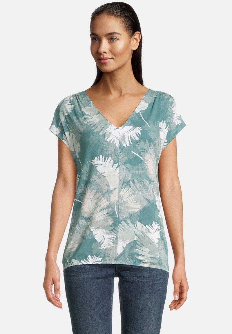 Betty & Co - Print T-shirt - green/white