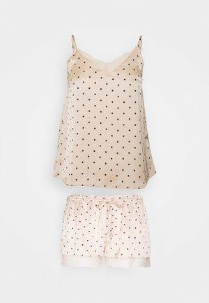STRAPS SHORT PANT TRENDY - Pyjamas - nude