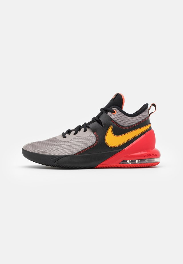 AIR MAX IMPACT - Basketball shoes - enigma stone/camellia/black/chile red