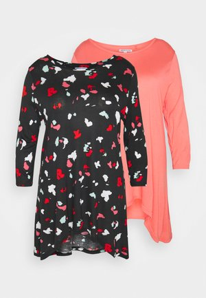 HANKY HEM 2 PACK - T-shirt à manches longues - blossom pink