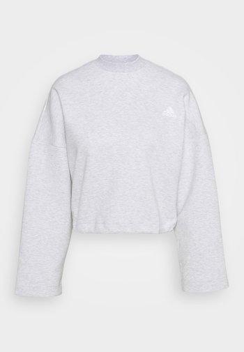 CREW - Maglietta a manica lunga - light grey heather