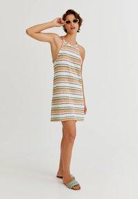 PULL&BEAR - Jumper dress - mottled beige - 1