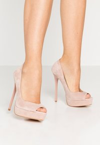 Even&Odd - LEATHER - Peeptoes - nude - 0