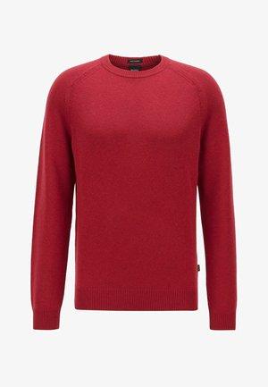 DAVIDO - Stickad tröja - dark red
