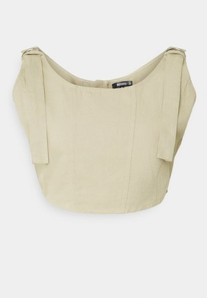 RING SEAMED CORSET - Topper - beige