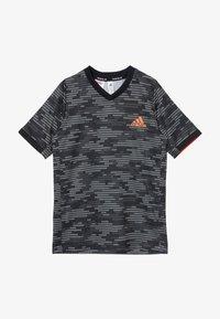 adidas Performance - Print T-shirt - black/truora - 2