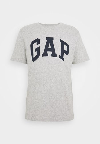 BASIC LOGO - T-shirt z nadrukiem - light heather grey
