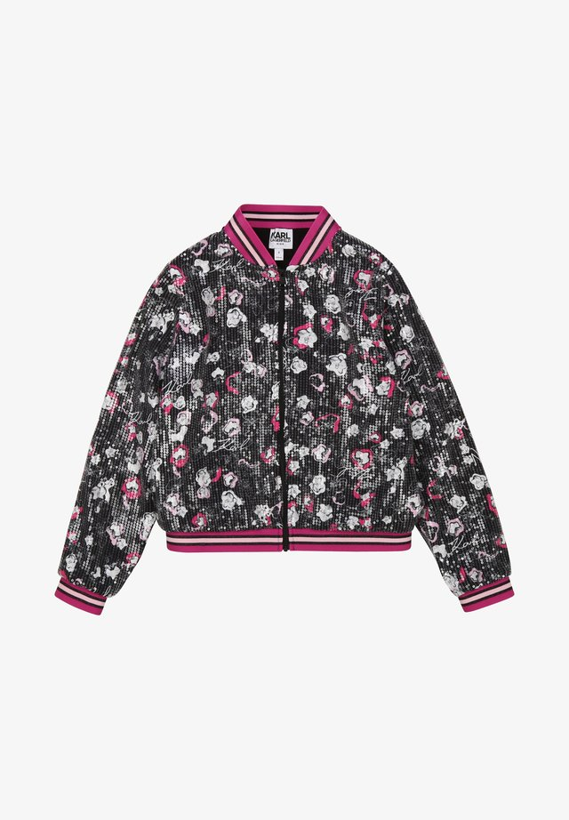 Blouson Bomber - pink,black