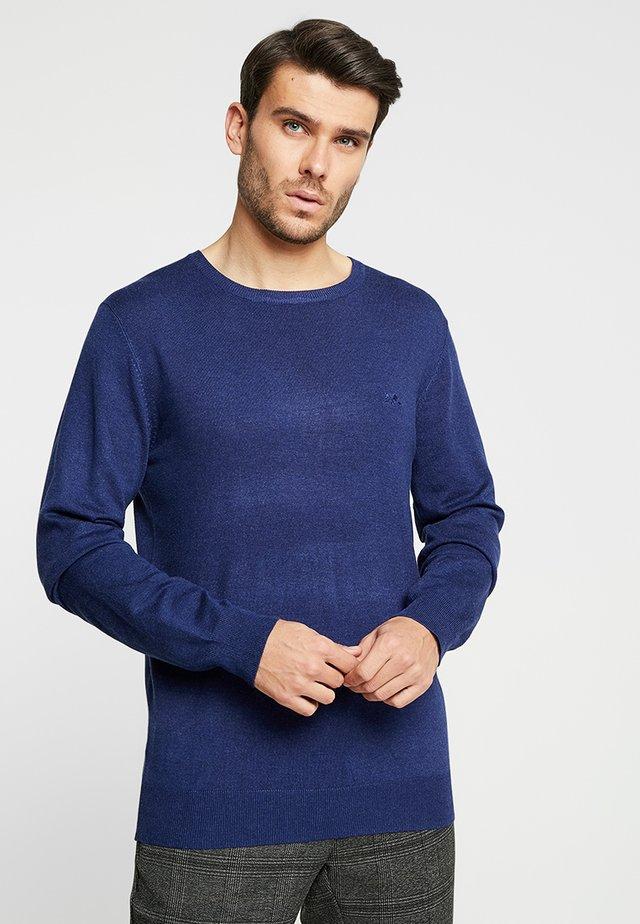 ROUND NECK - Pullover - dark blue melange