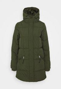 THE MOTHER MID LENGTH PUFFER - Winter coat - khaki