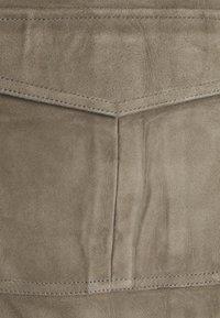 Selected Femme - SLFMONAY SUEDE JACKET - Leather jacket - granite grey - 2