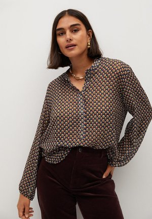 Button-down blouse - senfgelb