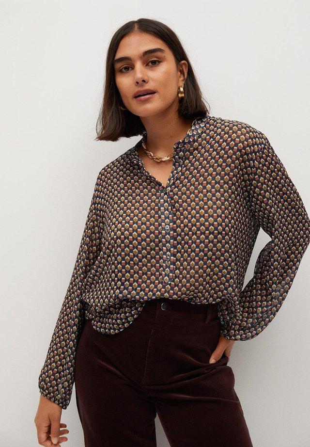 Button-down blouse - senfgelb