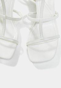 Bershka - High Heel Sandalette - white - 5