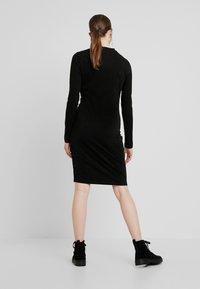 Urban Classics - LADIES PEACHED DRESS - Shift dress - black - 2