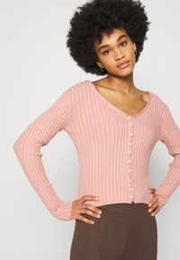 NA-KD - DETAILED CARDIGAN - Cardigan - dusty pink - 3