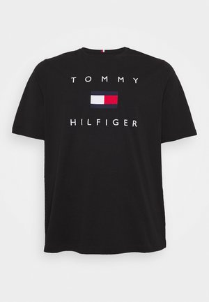 FLAG TEE - Print T-shirt - black
