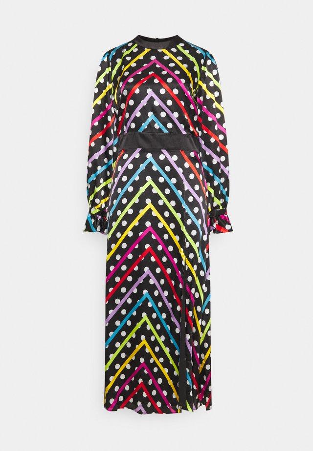 MARLEY DRESS - Maxikleid - black/multi-coloured