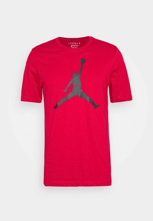 JUMPMAN FILL CREW - Print T-shirt - gym red/black