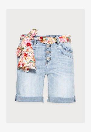 BERMUDA - Denim shorts - blue