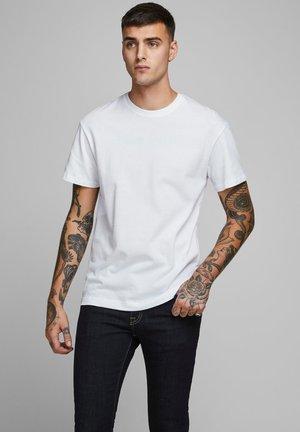 JJELIAM TEE SS CREW NECK NOOS - Basic T-shirt - white