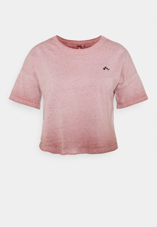 ONPDOLA LIFE CROP TEE - T-shirt basic - withered rose