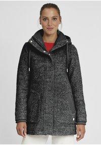 Oxmo - RIEKE - Short coat - dark grey melange - 0