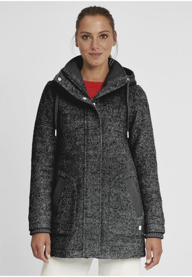 RIEKE - Halflange jas - dark grey melange