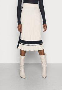 GANT - VARSITY SKIRT - Pencil skirt - cream - 0