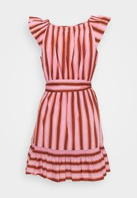 kate spade new york - CALAIS STRIPE FLUTTER DRESS - Day dress - rosy carnation - 1