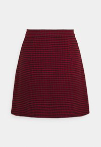 Missguided Petite - DOGTOOTH PRINT MINI SKIRT - A-line skjørt - red/black - 1