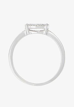 WHITE GOLD RING 9K CERTIFIED 95 DIAMONDS HP1 0.2 CT - Ring - silver