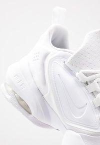 Nike Performance - AIR MAX ALPHA SAVAGE - Sports shoes - white/black - 5