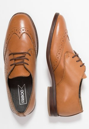 LEATHER - Veterschoenen - light brown