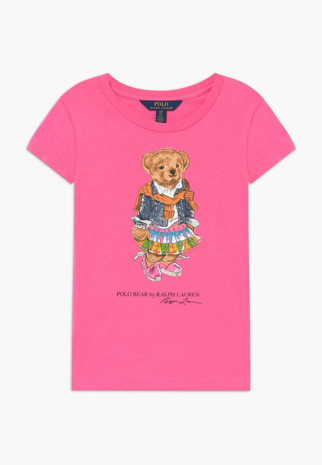 BEAR TEE - T-shirt z nadrukiem - baja pink