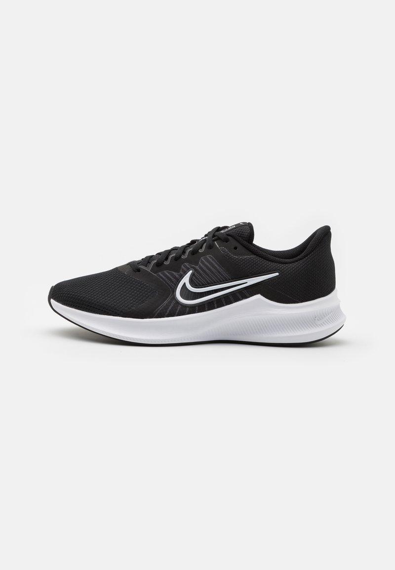 Nike Performance - DOWNSHIFTER 11 - Neutral running shoes - black/white/dark smoke grey
