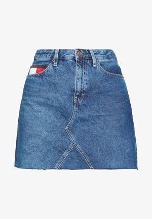 SHORT SKIRT - A-line skirt - blue denim