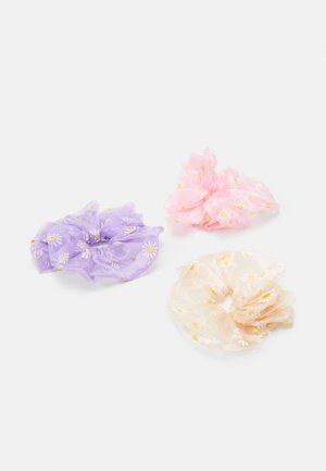 PCPAISLEY OVERSIZED SCRUNCHI 3 PACK - Hair Styling Accessory - candy pink/lilac/cream