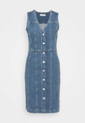 SLFLAUREL DRESS - Denim dress - medium blue denim