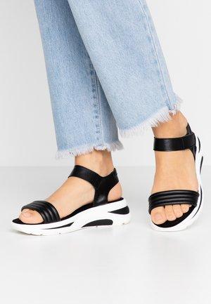 Sandalias de cuña - black
