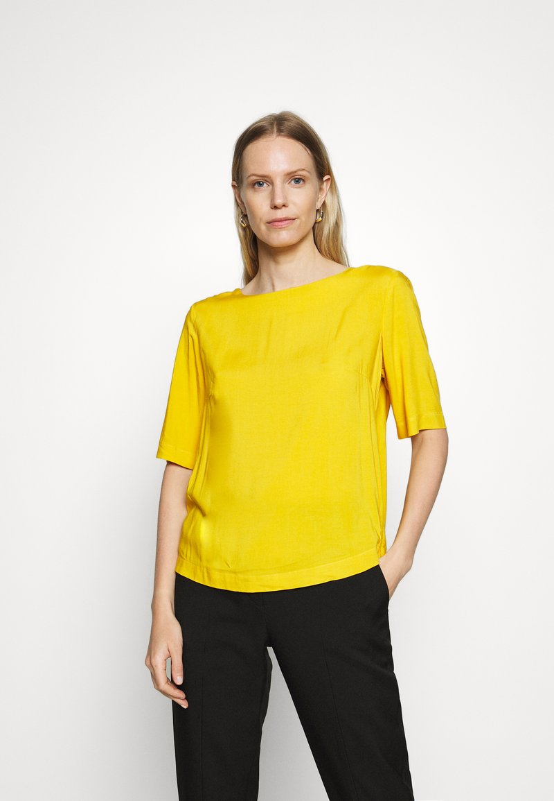 TOM TAILOR - BLOUSE - Blůza - deep golden yellow