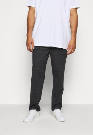 EBERLEIN WITH ROLL UP CHECK - Trousers - mecan grey