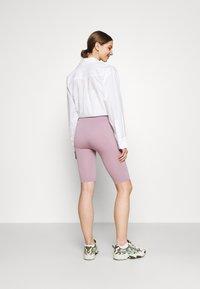 Even&Odd - SEAMLESS RIB CYCLING SHORTS - Shorts - purple - 2