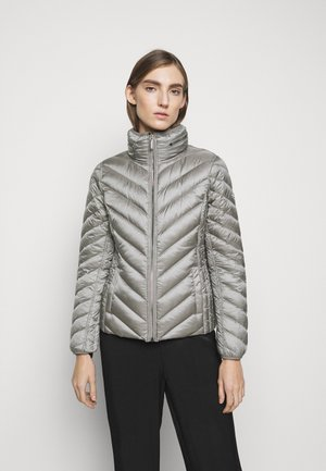 SHORT PACKABLE PUFFER - Down jacket - concrete