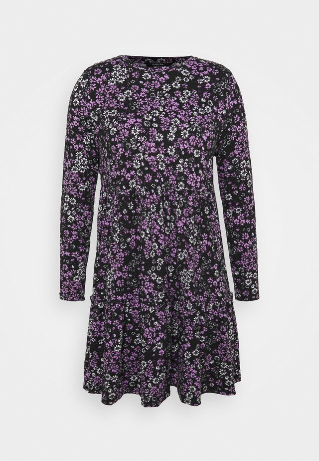 SOFT TOUCH TIERED SMOCK DRESS - Žerzejové šaty - lilac