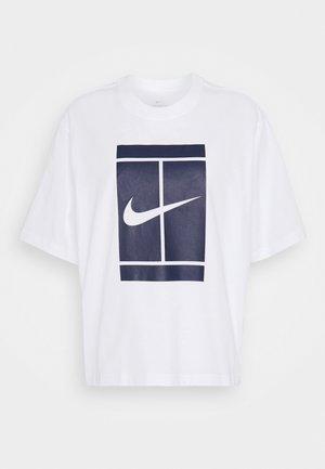 TEE COURT - Camiseta estampada - white