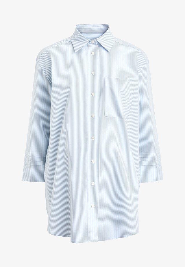 MATERNITY SLEEVE DETAIL OVERSIZED SHIRT - Košile - light blue